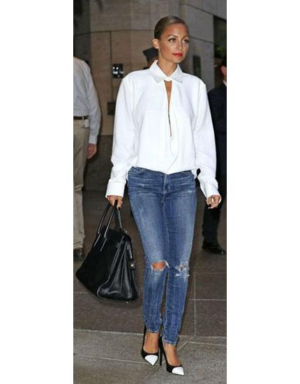 5 Stylish Celebs Add a Twist to the White Shirt-Blue Jeans Combo | BeBEAUTIFUL